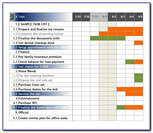 Project Task Tracker Template Excel