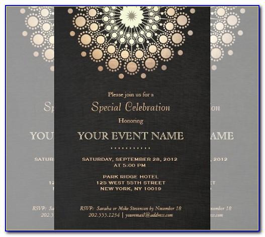 Prom Invitation Card Template