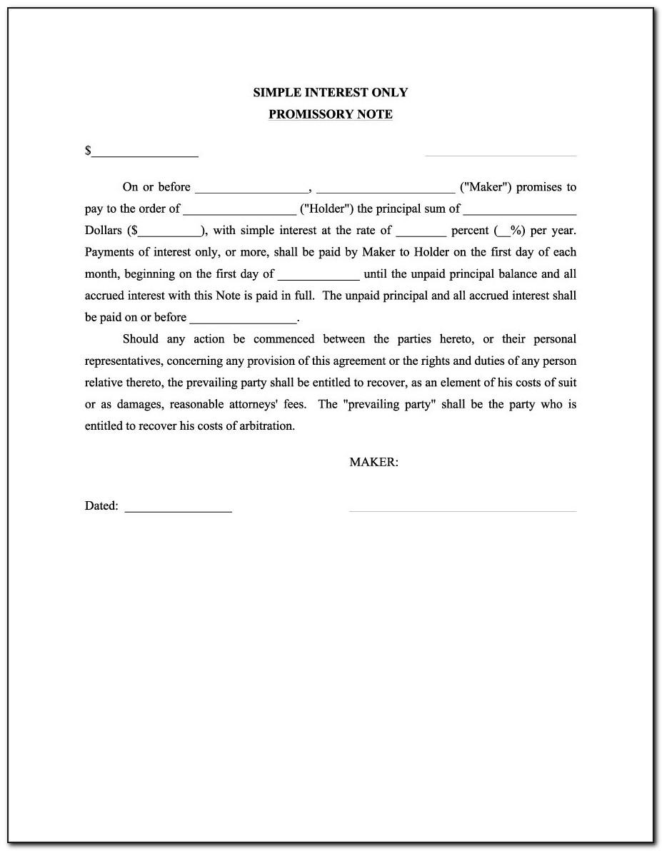 Promissory Note Agreement Template Doc