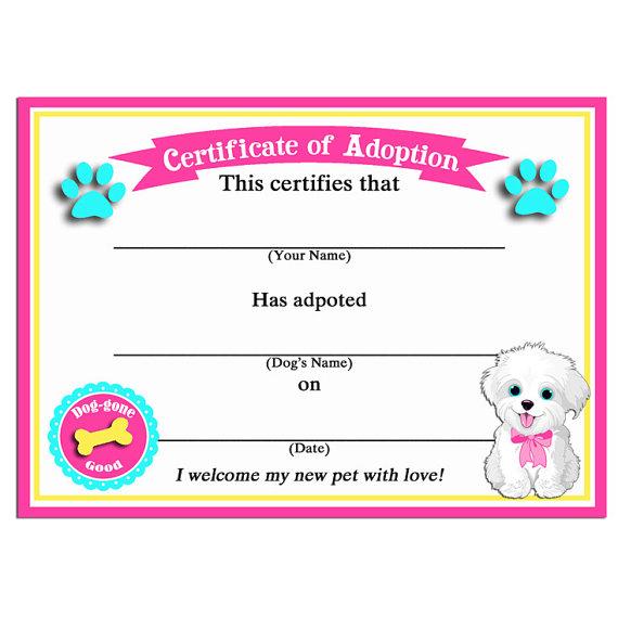 Puppy Birth Certificate Templates Free