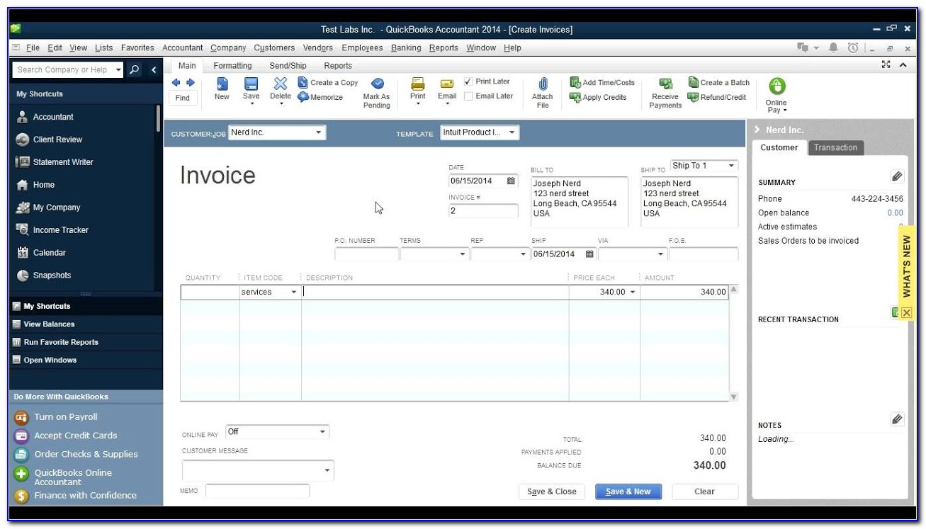 Quickbooks Create Recurring Invoices