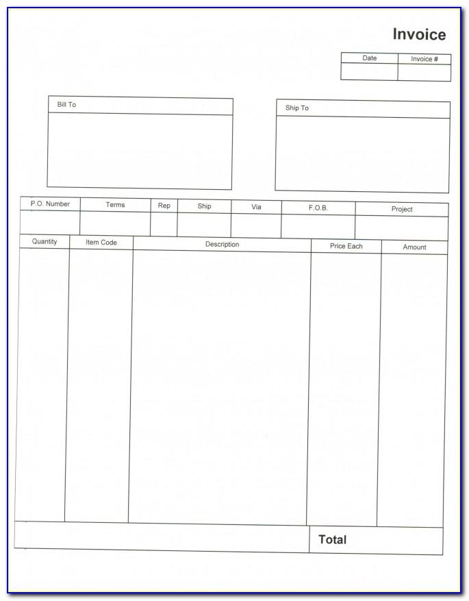 Quickbooks Invoice Templates Desktop