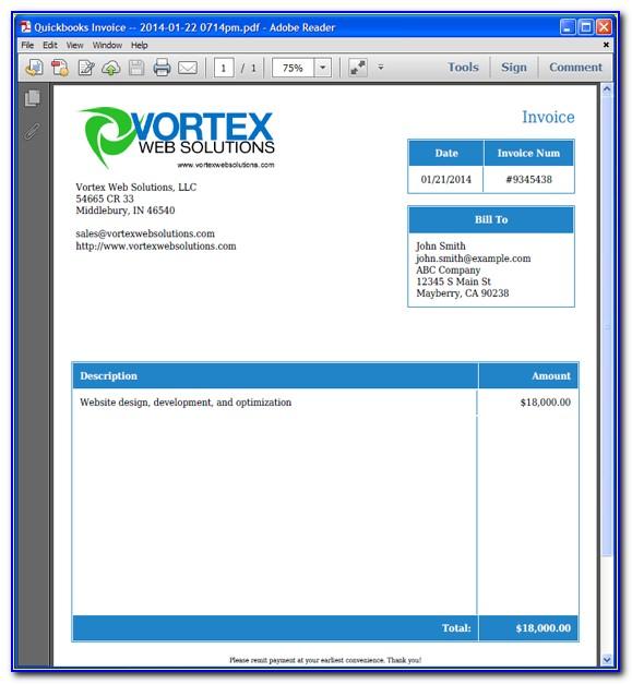 Quickbooks Invoice Templates Edit
