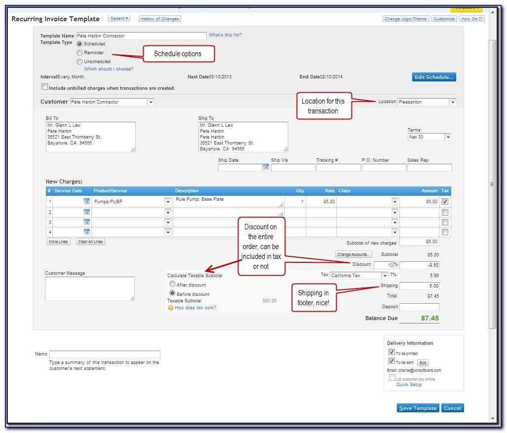 Quickbooks Online Customize Invoice Columns