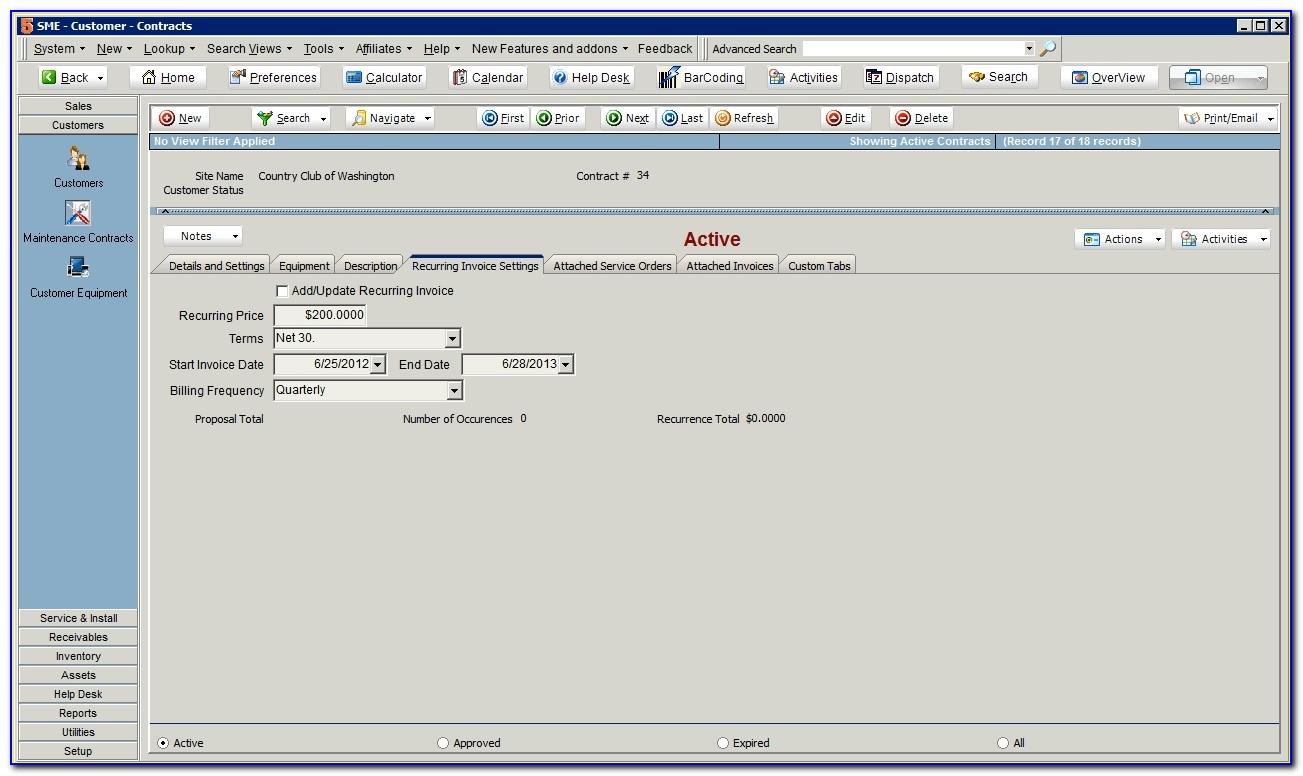 Quickbooks Online Recurring Invoice