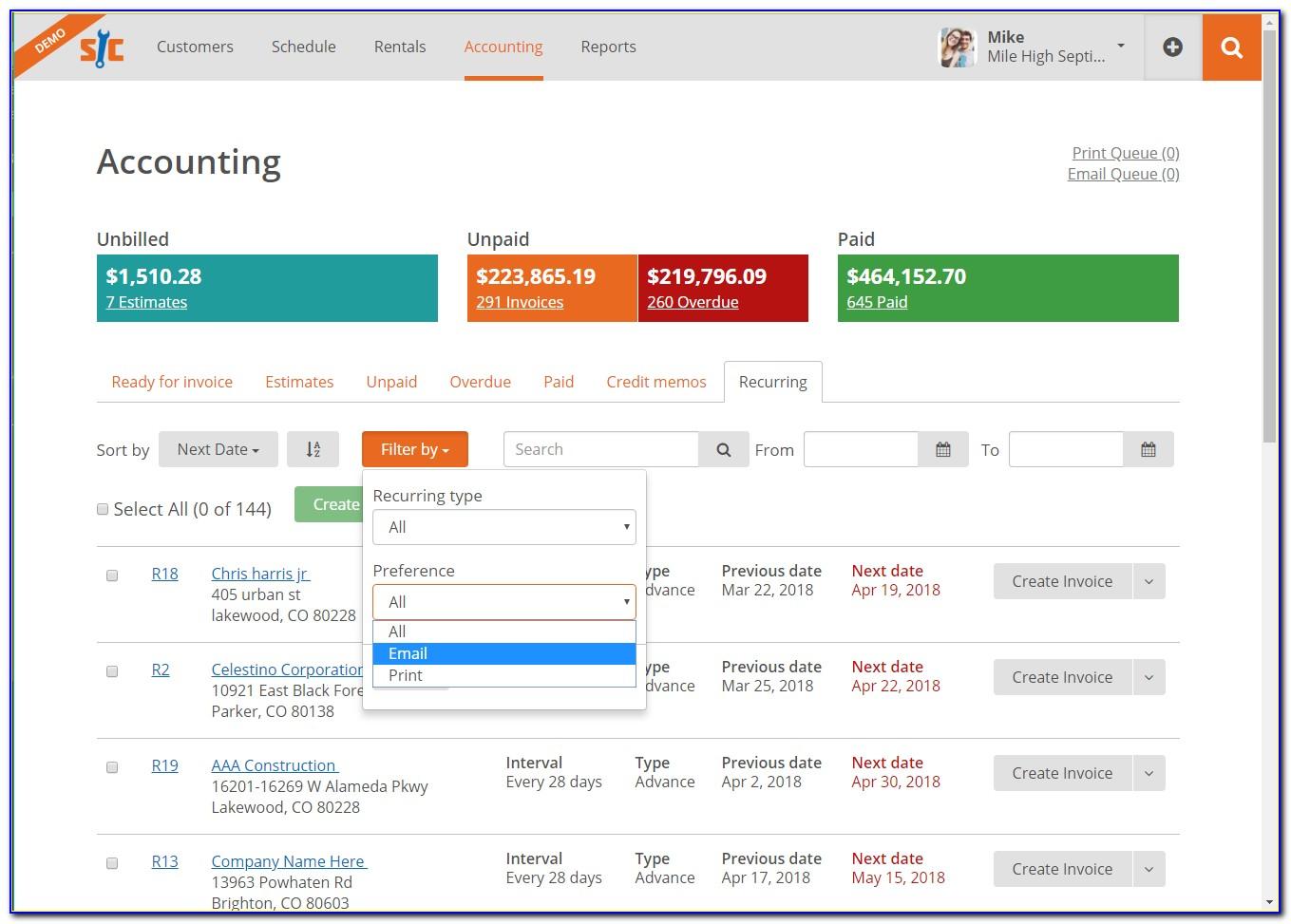 Quickbooks Online Stop Recurring Invoice