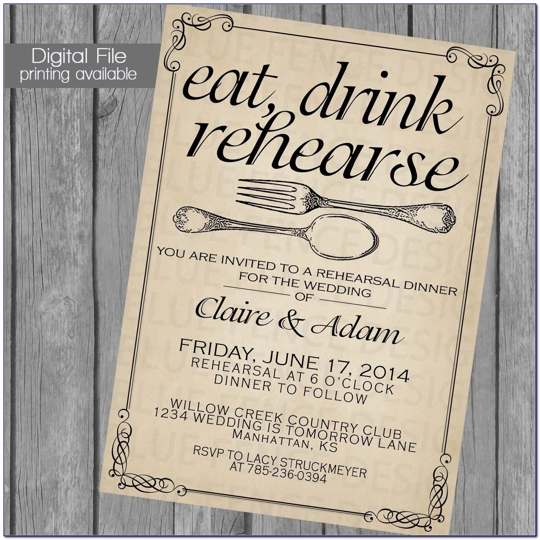 Rehearsal Dinner Invitation Sample Text