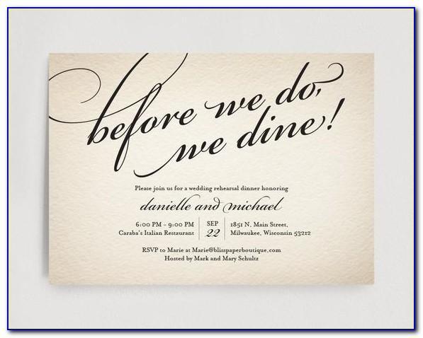 Rehearsal Dinner Invitation Template Free
