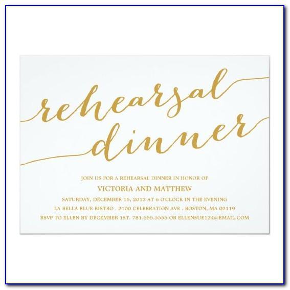 Rehearsal Dinner Invitation Templates
