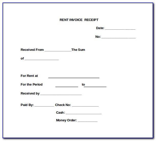 Rent Receipt Form Pdf
