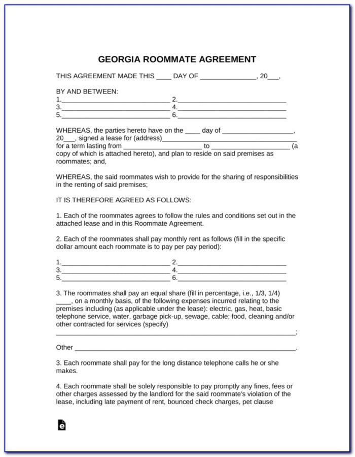 Rental Lease Agreement Template Ga