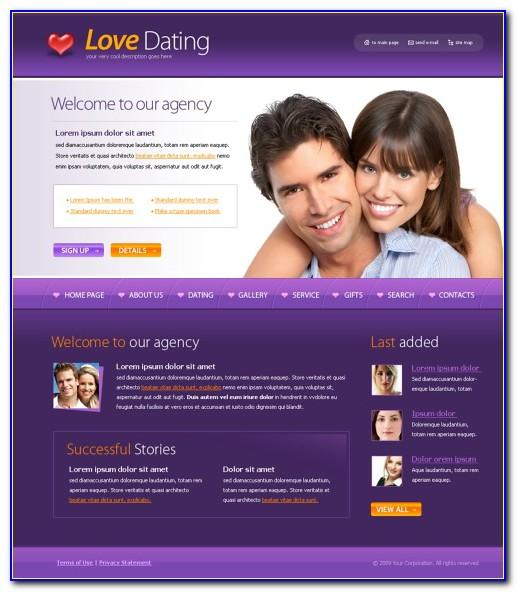 Responsive Dating Website Templates