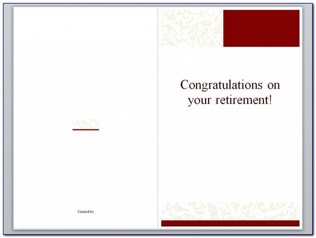 Retirement Card Printable Free