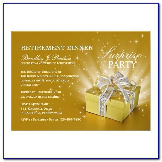 Retirement Dinner Invitation Wording