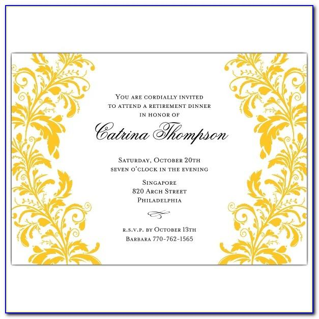Retirement Dinner Party Invitation Wording