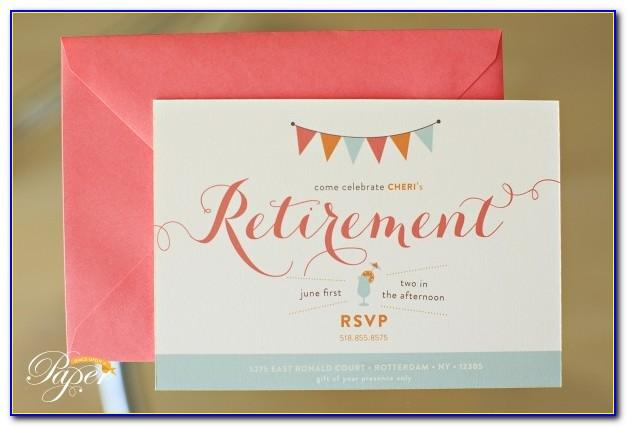 Retirement Invitation Card Template Free