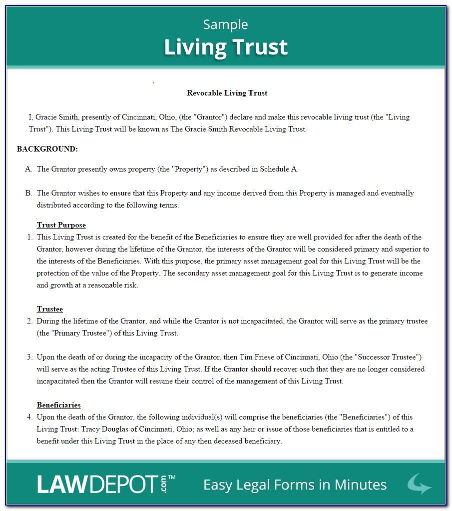 Revocable Trust Template Missouri