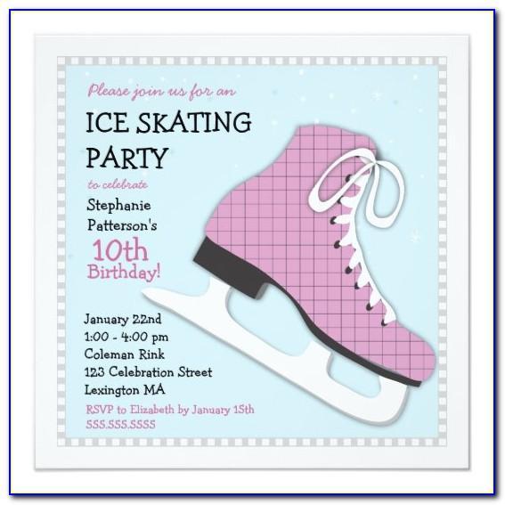 Roller Skating Birthday Invite Template
