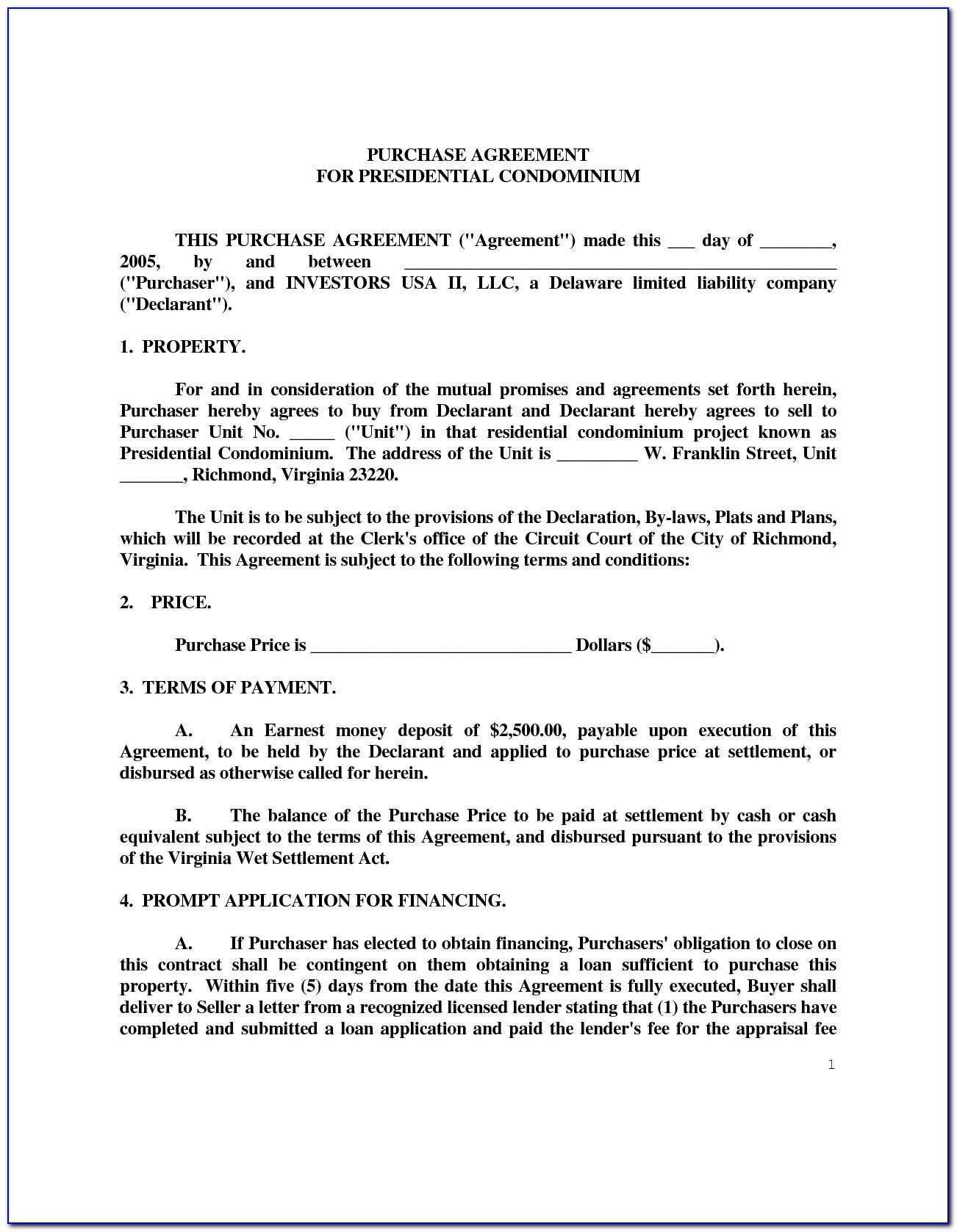 Rv Purchase Agreement Template