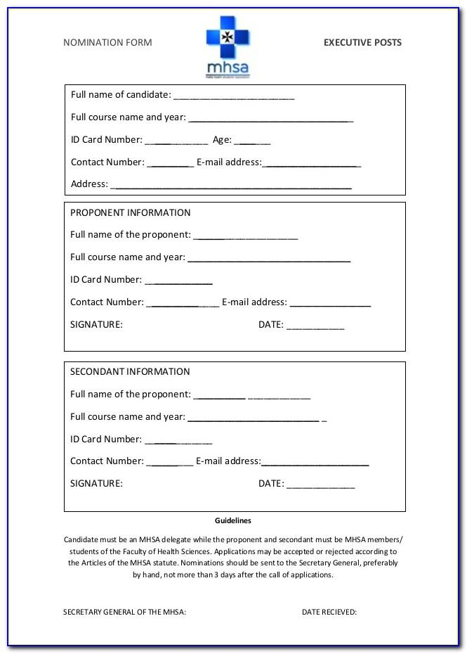Sample Nominee Agreement Template