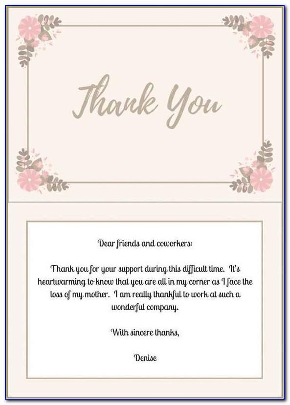 Samples Thank You Notes After Funeral Newspaper
