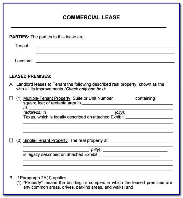 Simple Commercial Lease Agreement Template South Africa