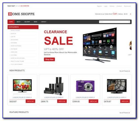Simple Ecommerce Website Templates Free Download Html With Css