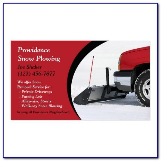 Snow Plowing Business Card Template
