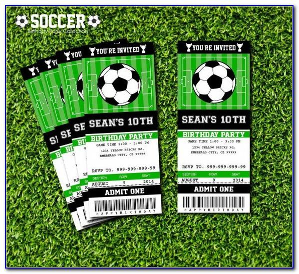 Soccer Ticket Invitation Template Free Download