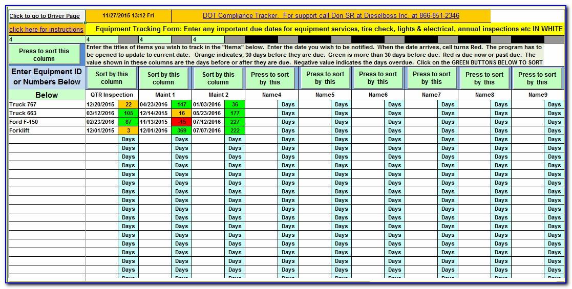 Software License Tracking Excel Template