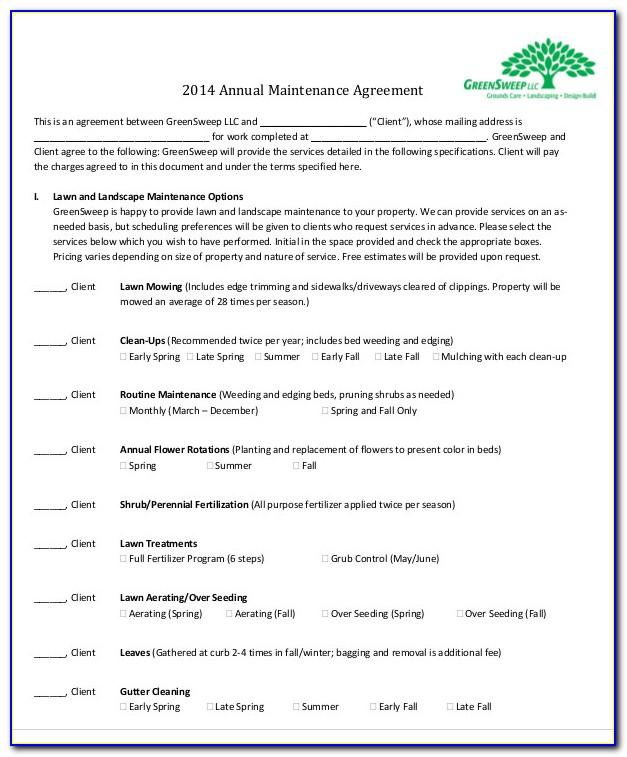 Software Maintenance Contract Template Free