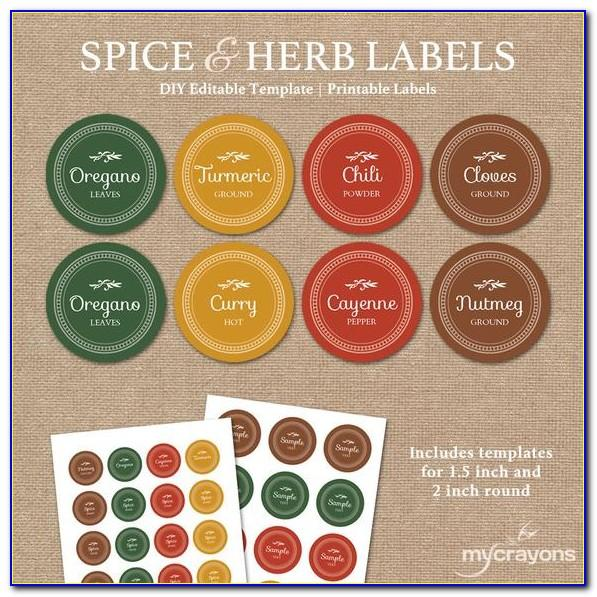 Spice Bottle Labels Template