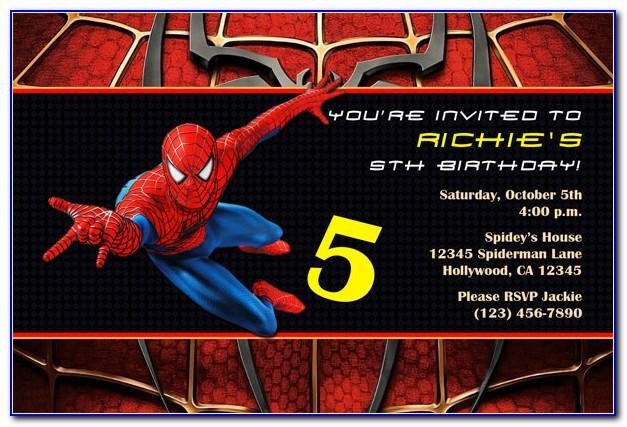 Spiderman Birthday Invite Template Free