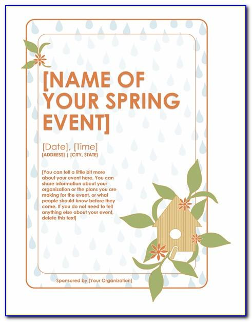 Spring Break Flyer Template Free