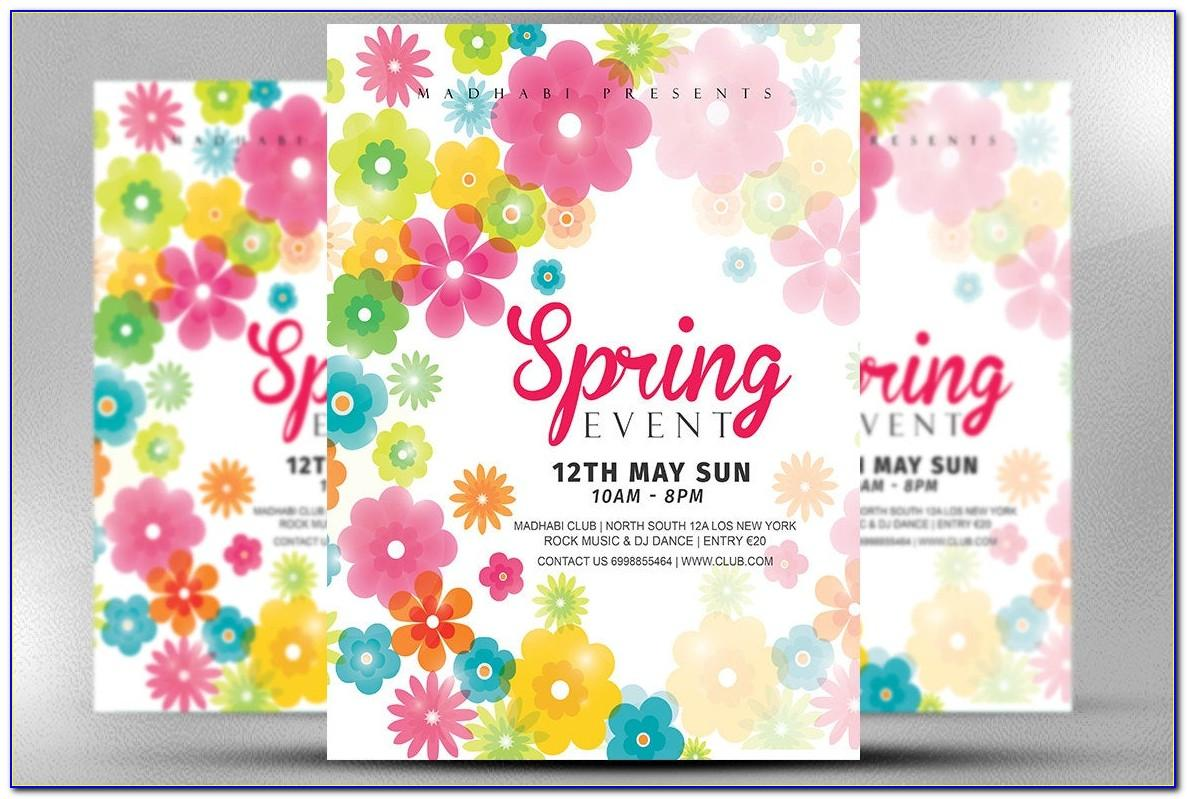 Spring Fling Flyer Template