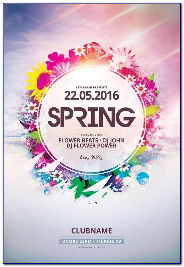 Spring Flyer Templates Free