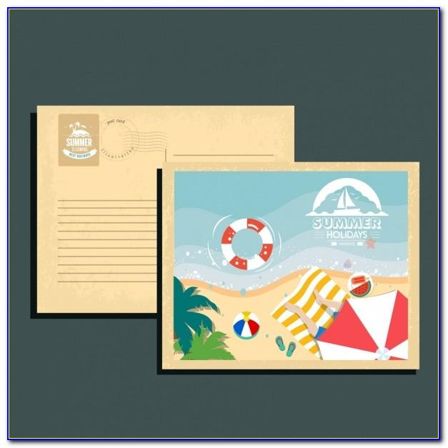 Standard Postcard Template Illustrator