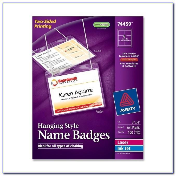 Staples Id Badge Kit Template 21566