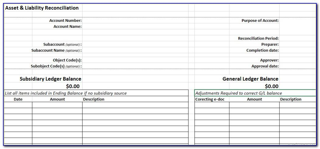 Supplier Account Reconciliation Template Excel