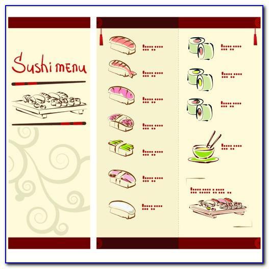 Sushi Menu Template Free Download