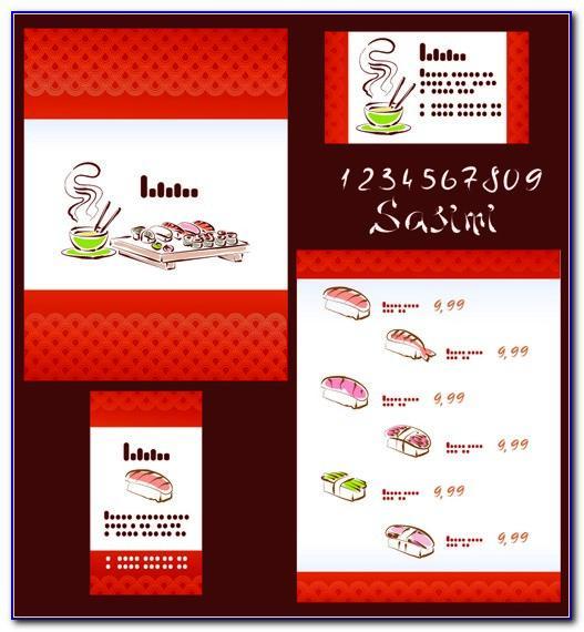 Sushi Restaurant Menu Template Free