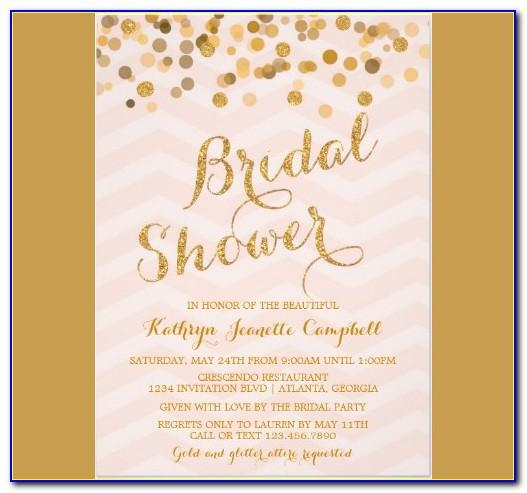 Template For Bridal Shower Invitations Wording