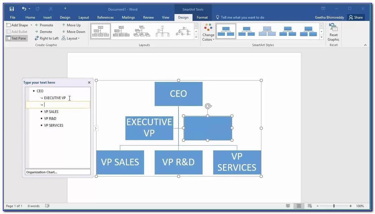 Templates For Organizational Charts In Word