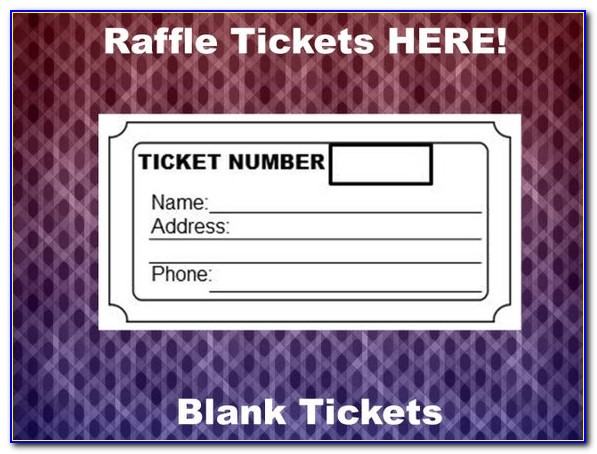 Templates For Raffle Tickets Free