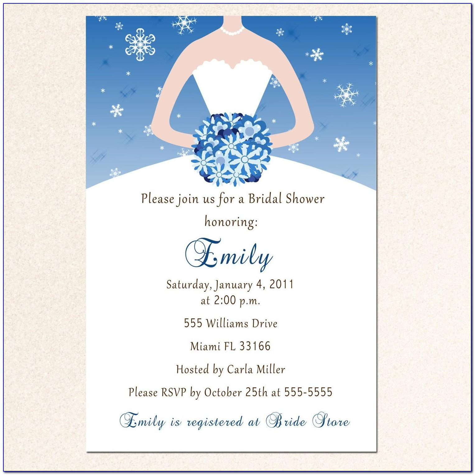 Templates For Wedding Shower Invitations Free