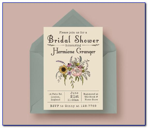 Templates For Wedding Shower Invitations