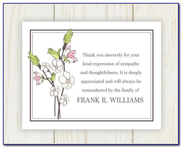 Thank You Notes For Funeral Samples