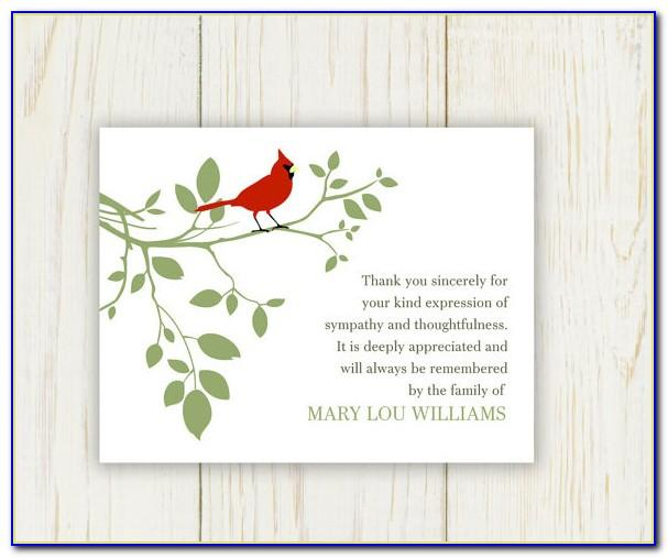 Thank You Notes Funeral Templates