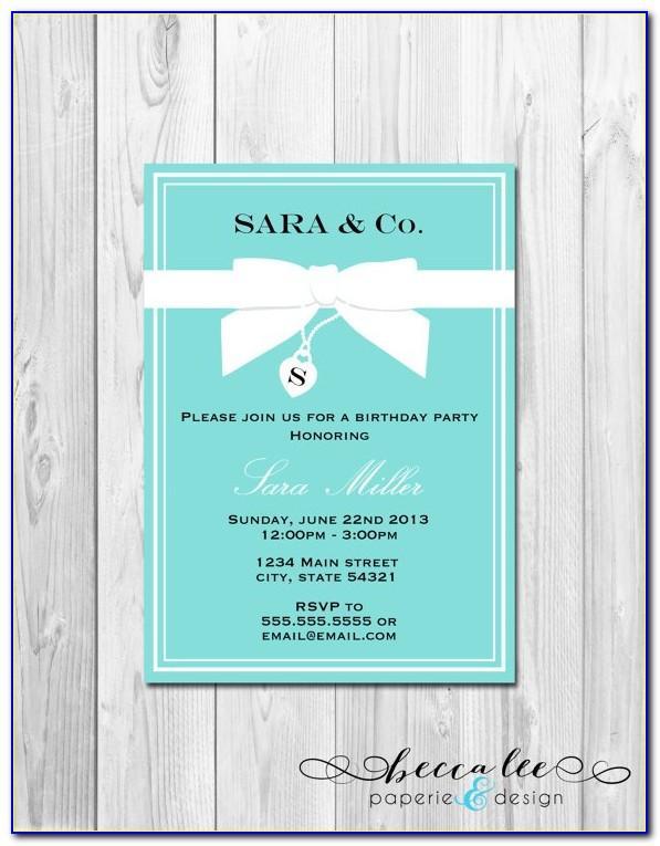 Tiffany And Co Invitations Template