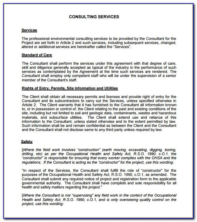 Training Consultant Contract Template Uk